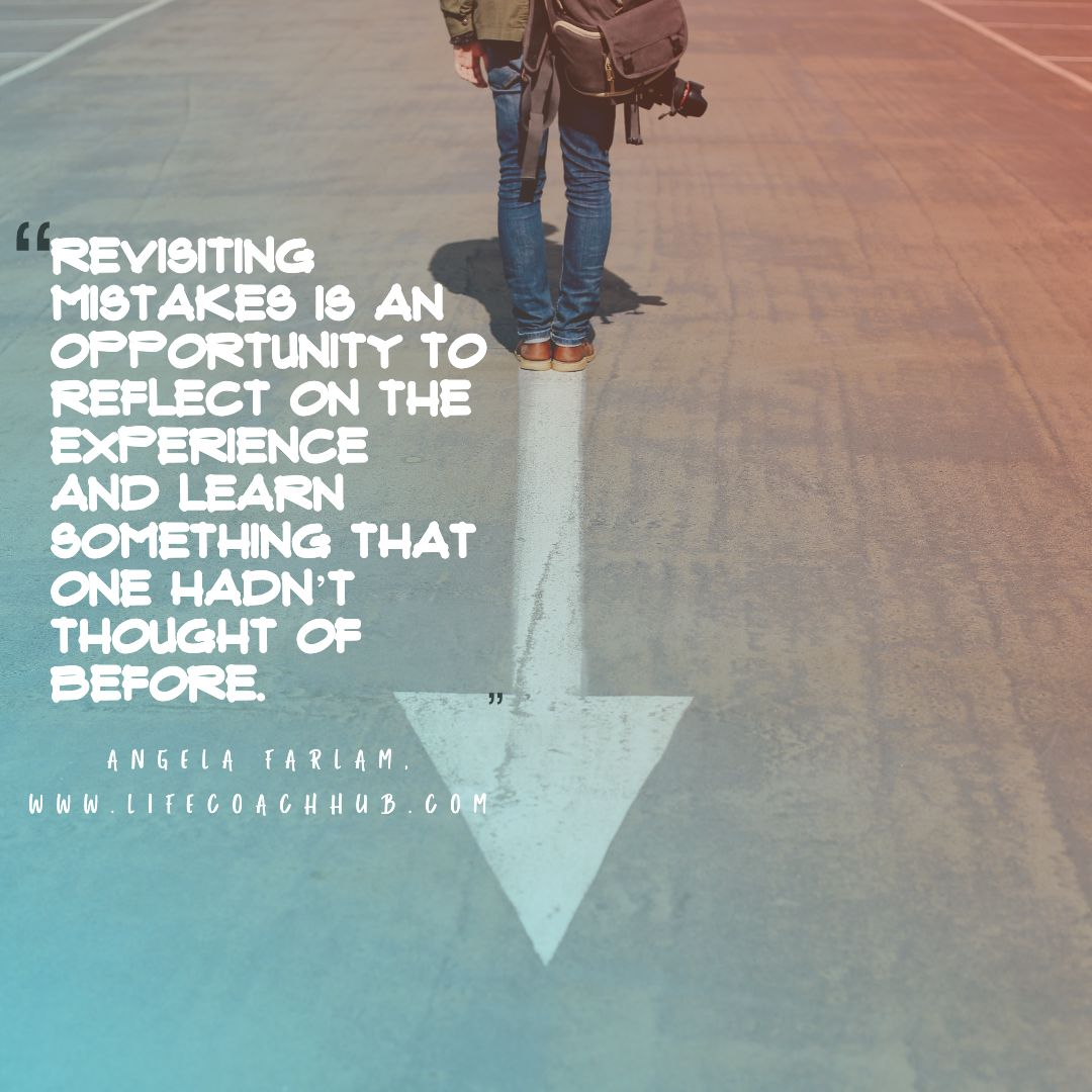 Revisiting mistakes is an opportunity