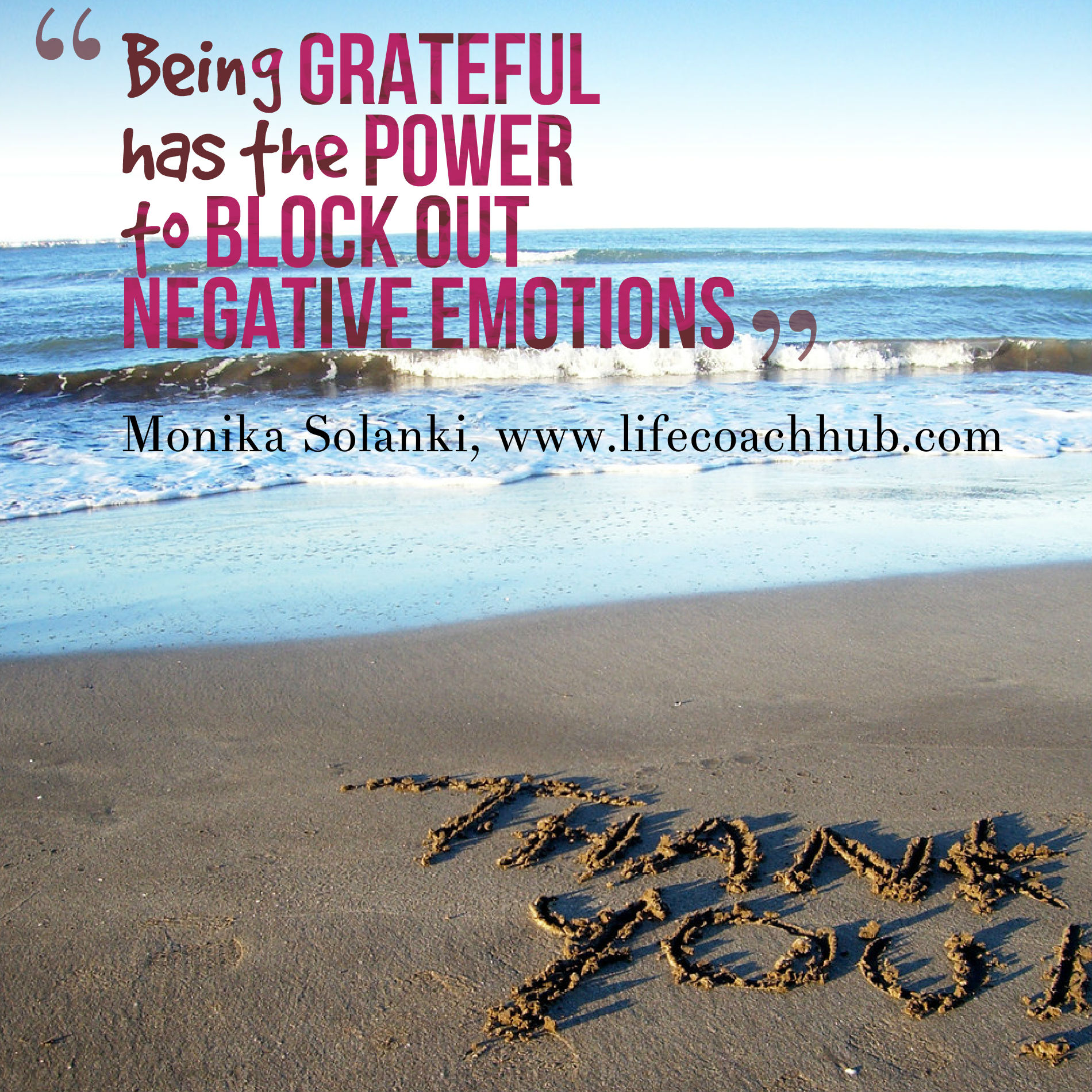 Being Grateful Has the Power to Block Out Negative Emotions