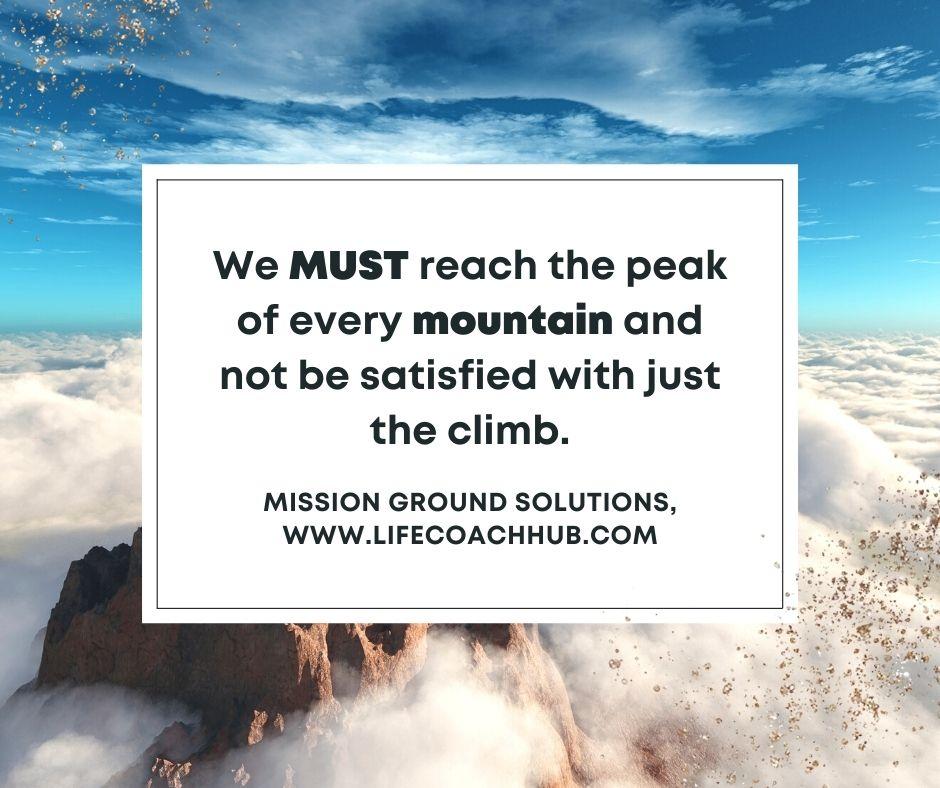 We Must Reach The Peak