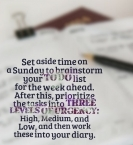 Weekly Task List Brainstorm: Your Prioritized To Do List